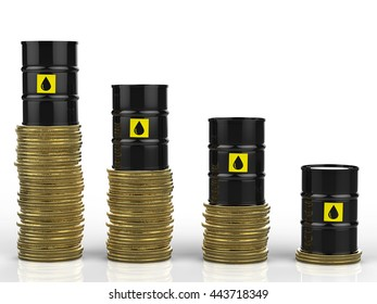 3d rendering oil price falling