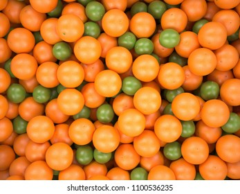 3d rendering orange and limes background