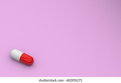 3d rendering pattern of medical pills