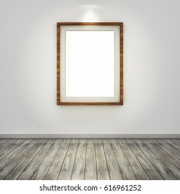 3D rendering of a picture frame