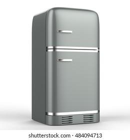 3d rendering retro design fridge