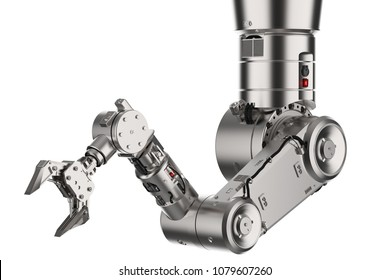 3d rendering robotic arm or robot hand isolated