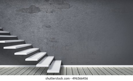 3d rendering of a room with stairs
