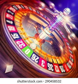 3D rendering of a roulette