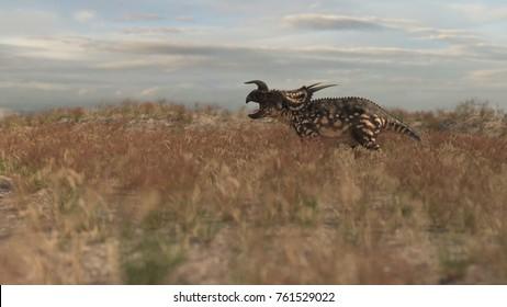 3d rendering of the running einiosaurus