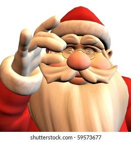 3d rendering of Santa Claus in pose as illustration