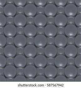 3d rendering. Seamless grey wall panels. 3d background.