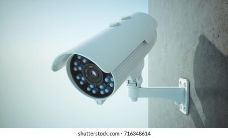 3D rendering security camera
