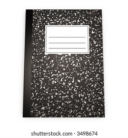 3d rendering of a Sketchbook with blank label for your own text. check my portfolio for variations.