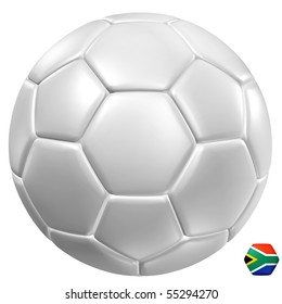 3d rendering of a soccer ball.