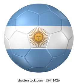 3d rendering of a soccer ball. ( Argentina Flag Pattern )