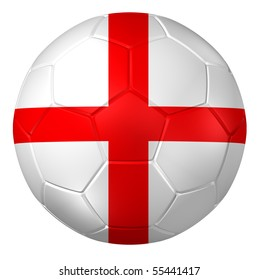 3d rendering of a soccer ball. ( England Flag Pattern )