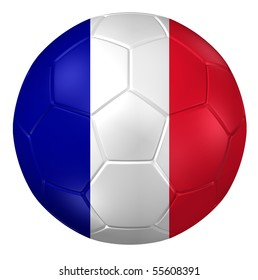 3d rendering of a soccer ball. ( France Flag Pattern )