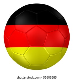 3d rendering of a soccer ball. ( Germany Flag Pattern )