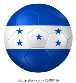 3d rendering of a soccer ball. ( Honduras Flag Pattern )