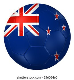 3d rendering of a soccer ball. ( New-Zealand Flag Pattern )