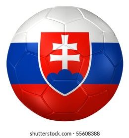 3d rendering of a soccer ball. ( Slovakia Flag Pattern )