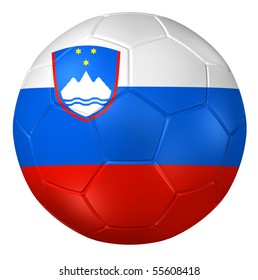 3d rendering of a soccer ball. ( Slovenia Flag Pattern )