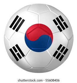 3d rendering of a soccer ball. ( South Korea Flag Pattern )