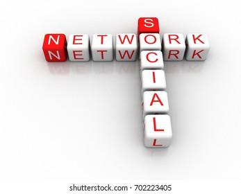 3d rendering social network crossword