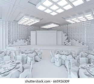 3d Rendering Stage & Backdrop - Plan