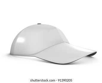 3d rendering, Stock cap template, isolated on white background.