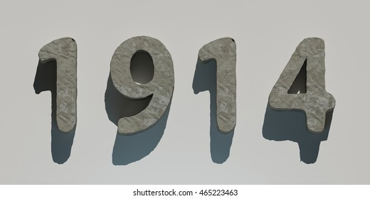 3d rendering stone year 1914