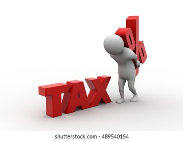 3d rendering of Tax overload concept