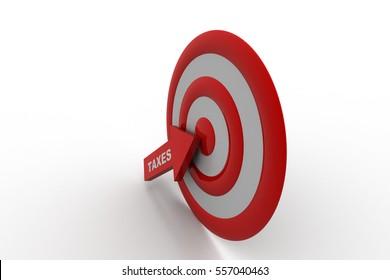 3D rendering of Tax refund target