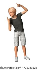 3D rendering of a teenager boy isolated on white background