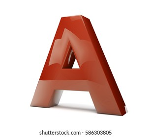 3d rendering of the text A