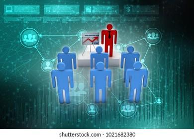3d rendering Training business team
