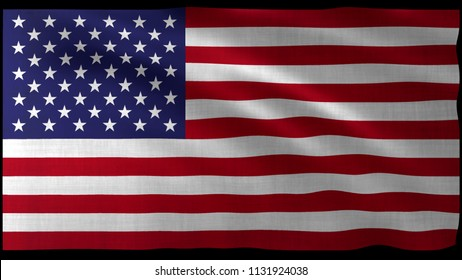 The 3d rendering of USA flag design with nice wave