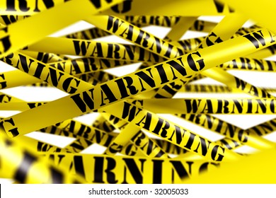 3d rendering of WARNING tape.