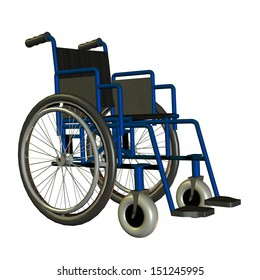 3D rendering of a wheelchair