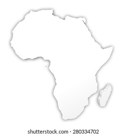 3d rendering of a white African map