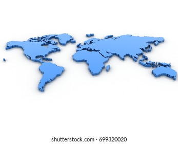 3d rendering World map