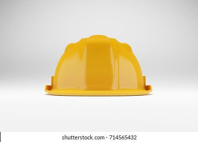3d rendering Yellow safety helmet isolated on white background
