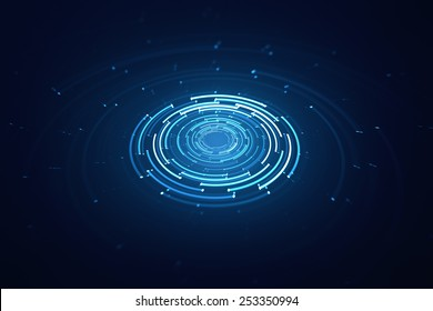 3D rotating circular elements background