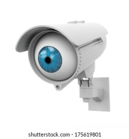 3d security camera with blue eye