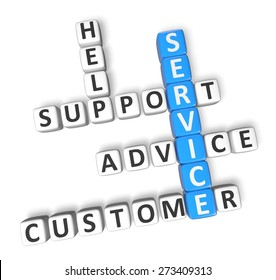 3D. Service, Customer, Support.