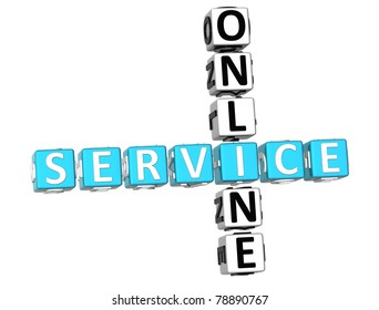 3D Service Online Crossword white background