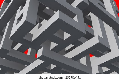3d shape. Geometric background