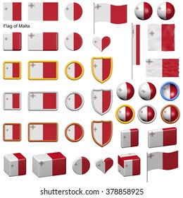 3d shapes containing the flag of Malta