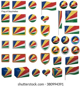 3d shapes containing the flag of Seychelles