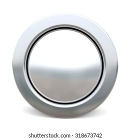 3d shiny button - white version