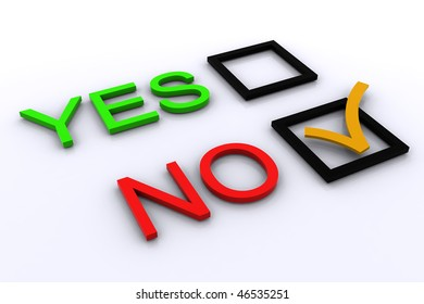 3D signs Yes / No