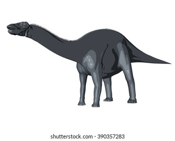 3d sketch render of a  dinosaur, which lived during the Cretaceous period, isolated on white.