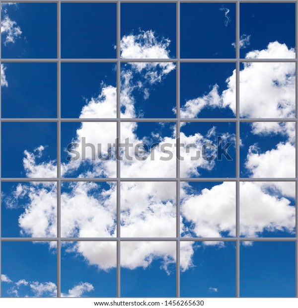 3d Sky Clouds Wallpaper Ceiling Stock Photo Edit Now 1456265630