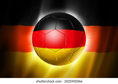 3D soccer ball with Germany team flag, world football cup Brazil 2014